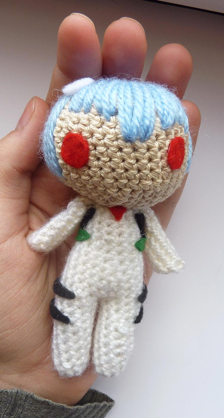 MADE ON ORDER - Rei Ayanami amigurumi doll by Ulvkatt