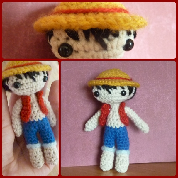 Monkey D. Luffy - One Piece amigurumi chibi doll by Ulvkatt