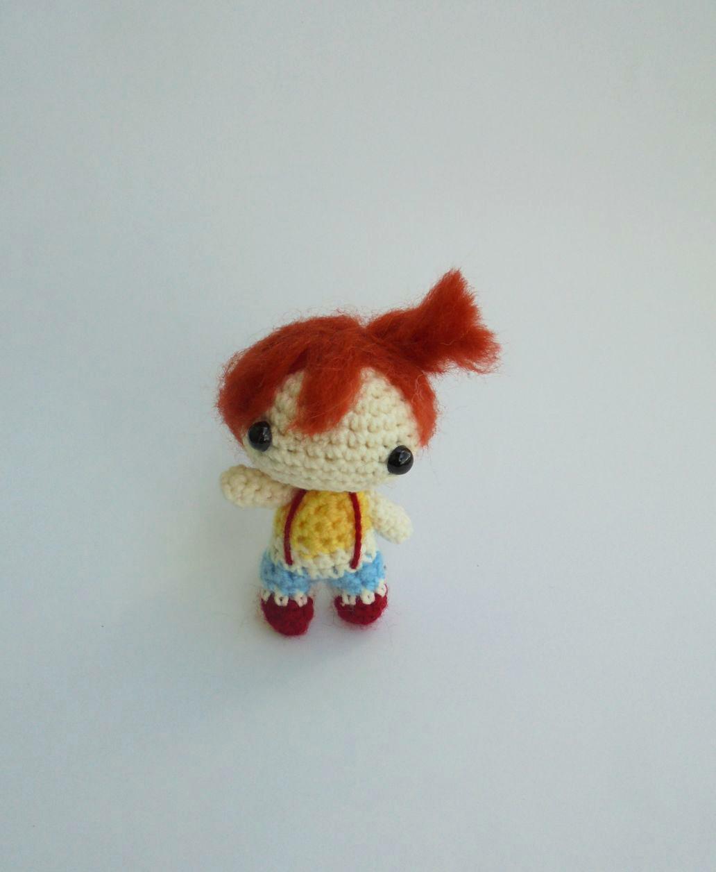 Miniature Amigurumi Doll : Chibi misty miniature amigurumi pokemon go doll by