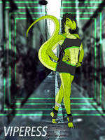 Viperess (new super hero-villain) by Dubstep-Squid