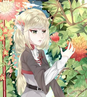 Ren in Garden