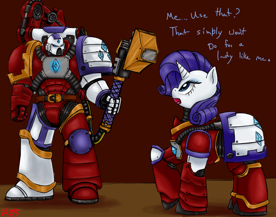 Rarity and Techmarine by Bloodkiaser923 on DeviantArt