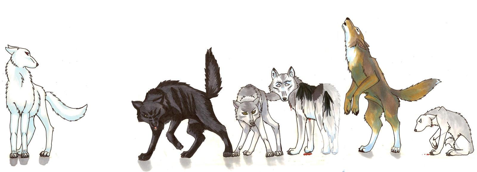 Stark Direwolves by Circecat1 on DeviantArt