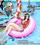 Boa Hancock One Piece manga coloring by Skullieaxy