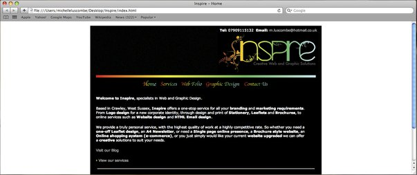 Inspire - Webpage by Inspire-Creative