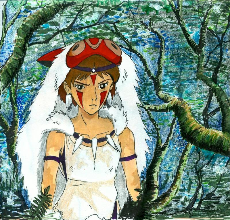 Princess Mononoke by Skyfurrow