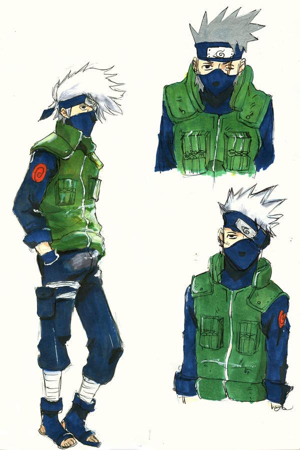 Kakashi sketches by Skyfurrow