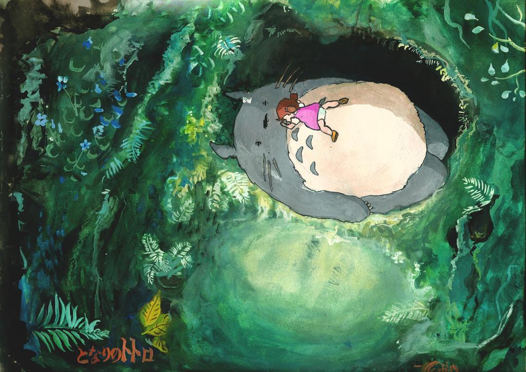 My Neighbor Totoro Painting by Skyfurrow
