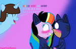 (AT) Rainbow Heart and Catboy Sitting in a Tree