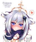 Paimon blushed Genshin Impact - Fanart
