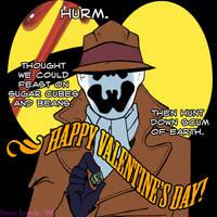 Watchmen Valentines: Rorschach by sirose