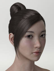 Product : HY Updo Hair for G3F by HerYun