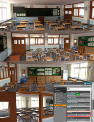 Product : HY ClassRoom and Interior render tip by HerYun