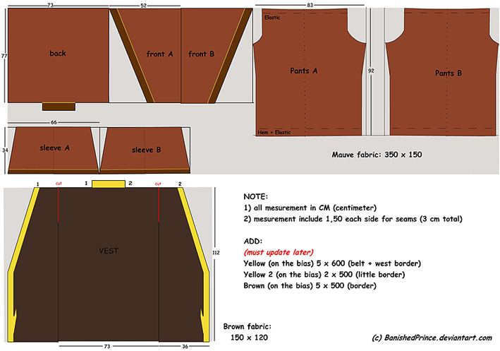 Zuko's costume_Step 1 PATTERN by BanishedPrince on DeviantArt
