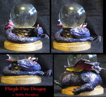 Purple Fire Dragon Ball by MetallicVisions