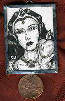 Snow White Mini Art Jewelry by MetallicVisions