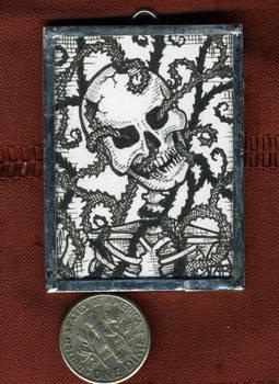 Overgrown Skeleton Mini Art Jewelry