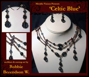 Celtic Blue necklace and earring set