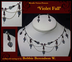 Violet Fall necklace and earring set