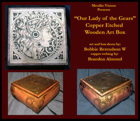 Our Lady of the Gears Copper Art Box
