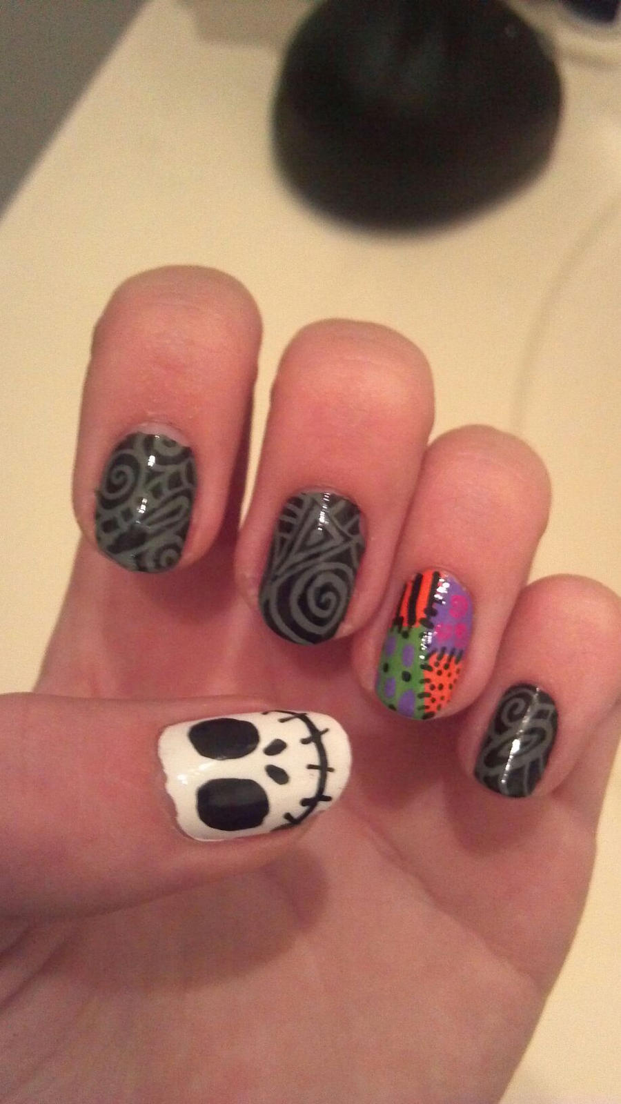 Nightmare Before Christmas Nail Design: Nightmare before christmas ...