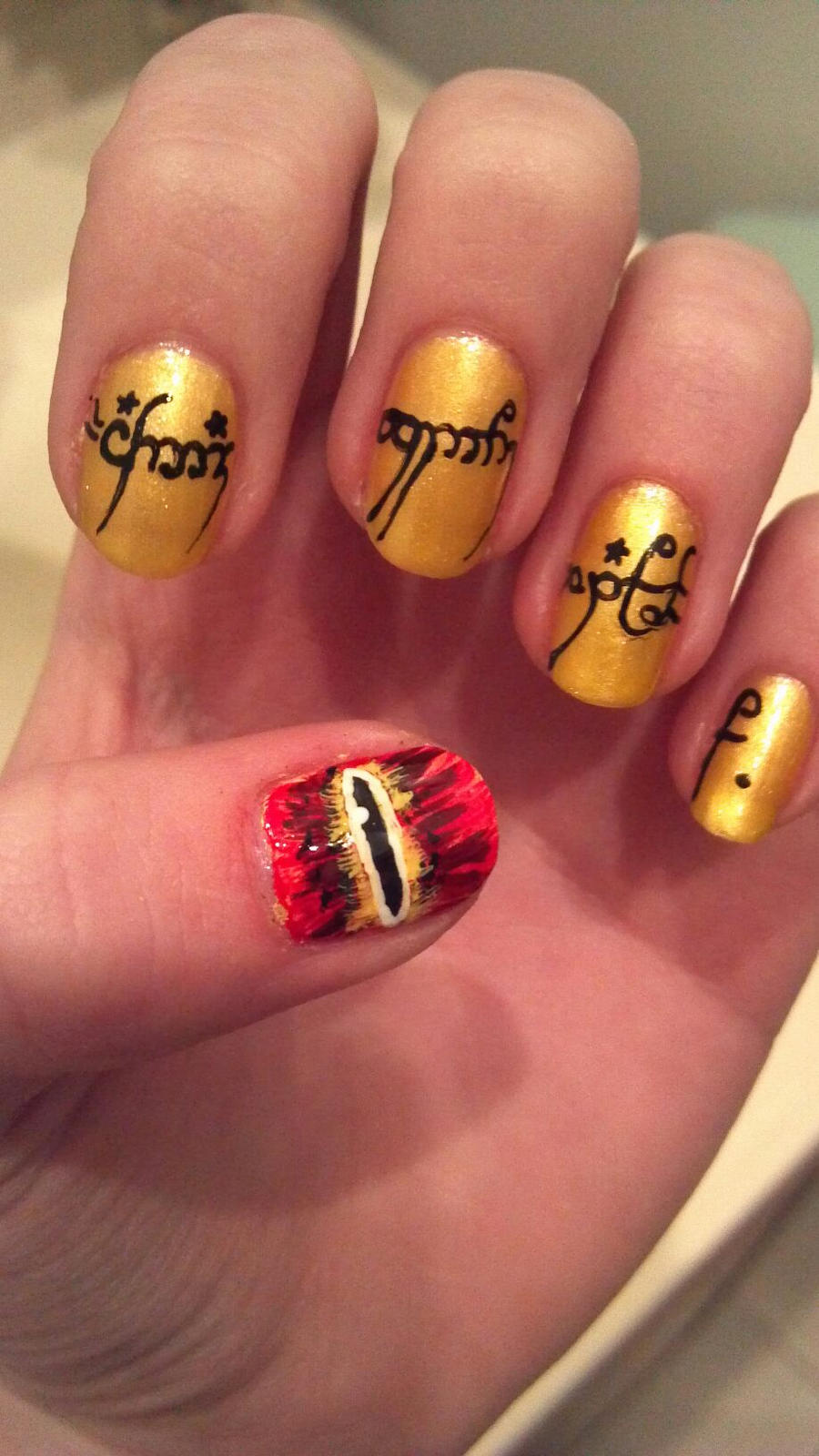 Lotr nail art nail review lord of the rings nail art by dyingxalicex prinsesfo Images