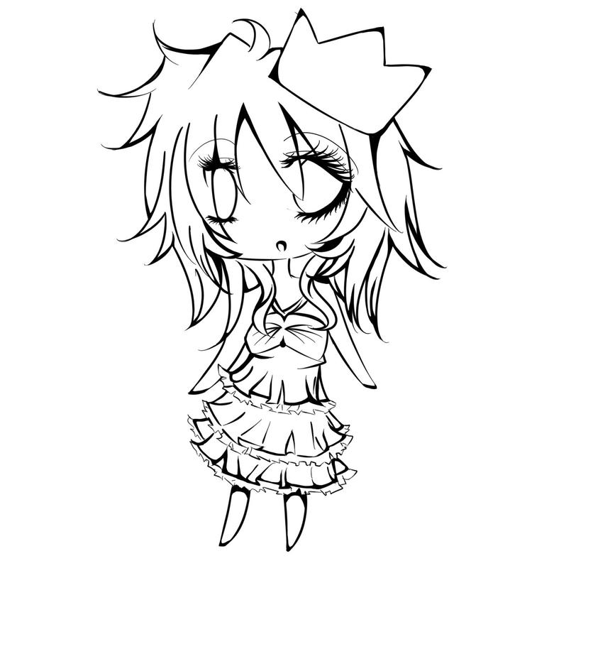 chibi outline