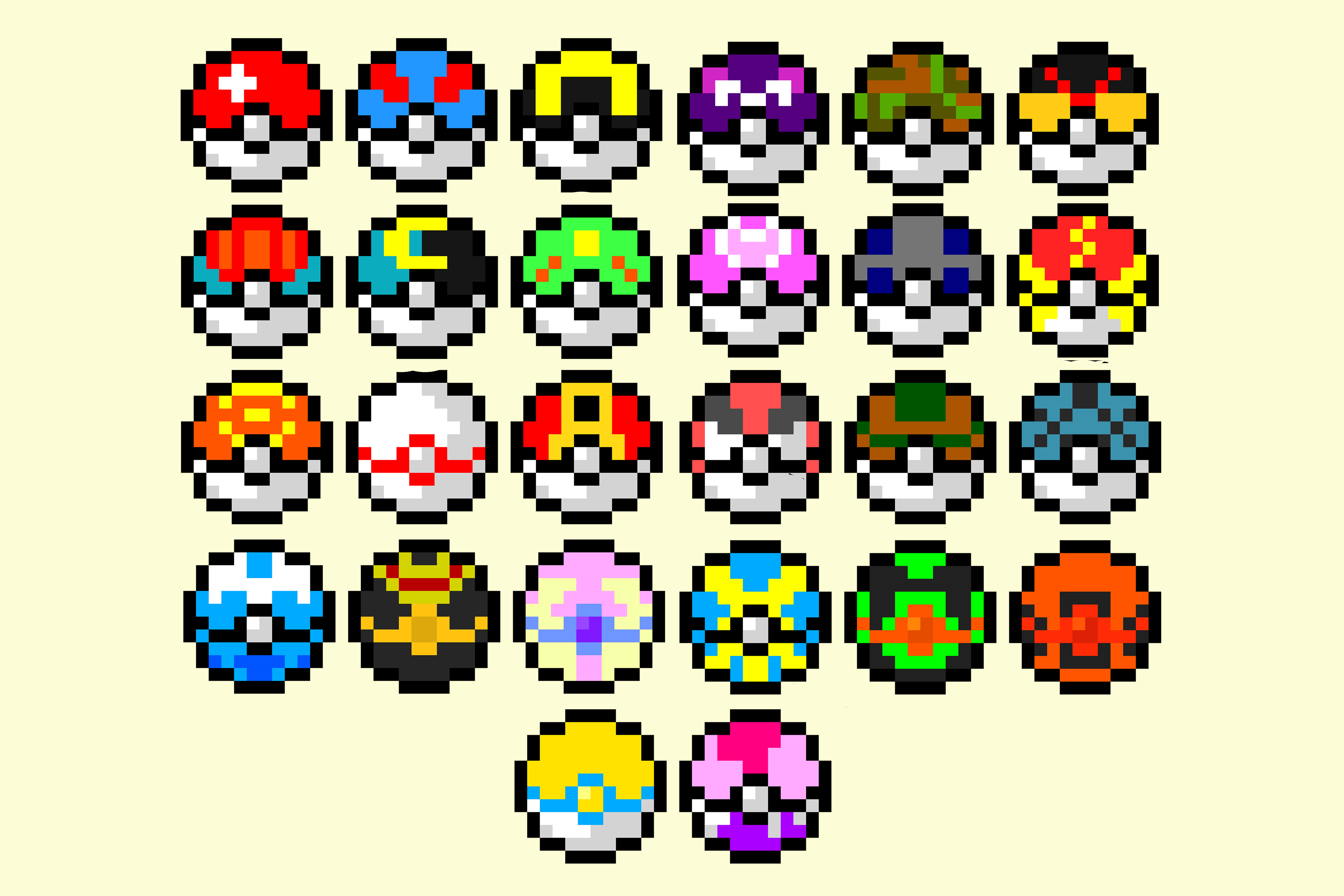 Minecraft Pixel Art Grid Easy Pokemon