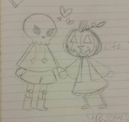 Spooky Lovers by blueberrybones
