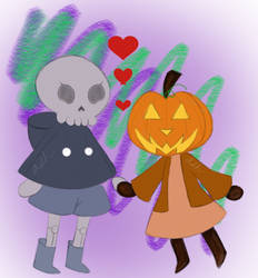 Spooky Lovers (Colored) by blueberrybones