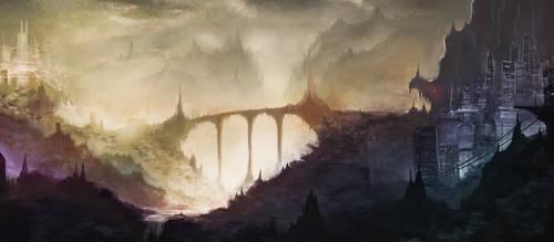 Castle bridge by DwarvenSmith