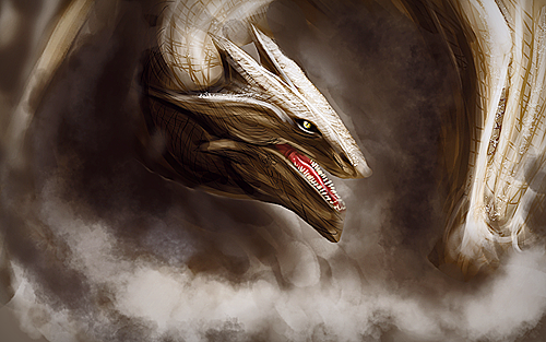 The Golden Dragon by VVulfy