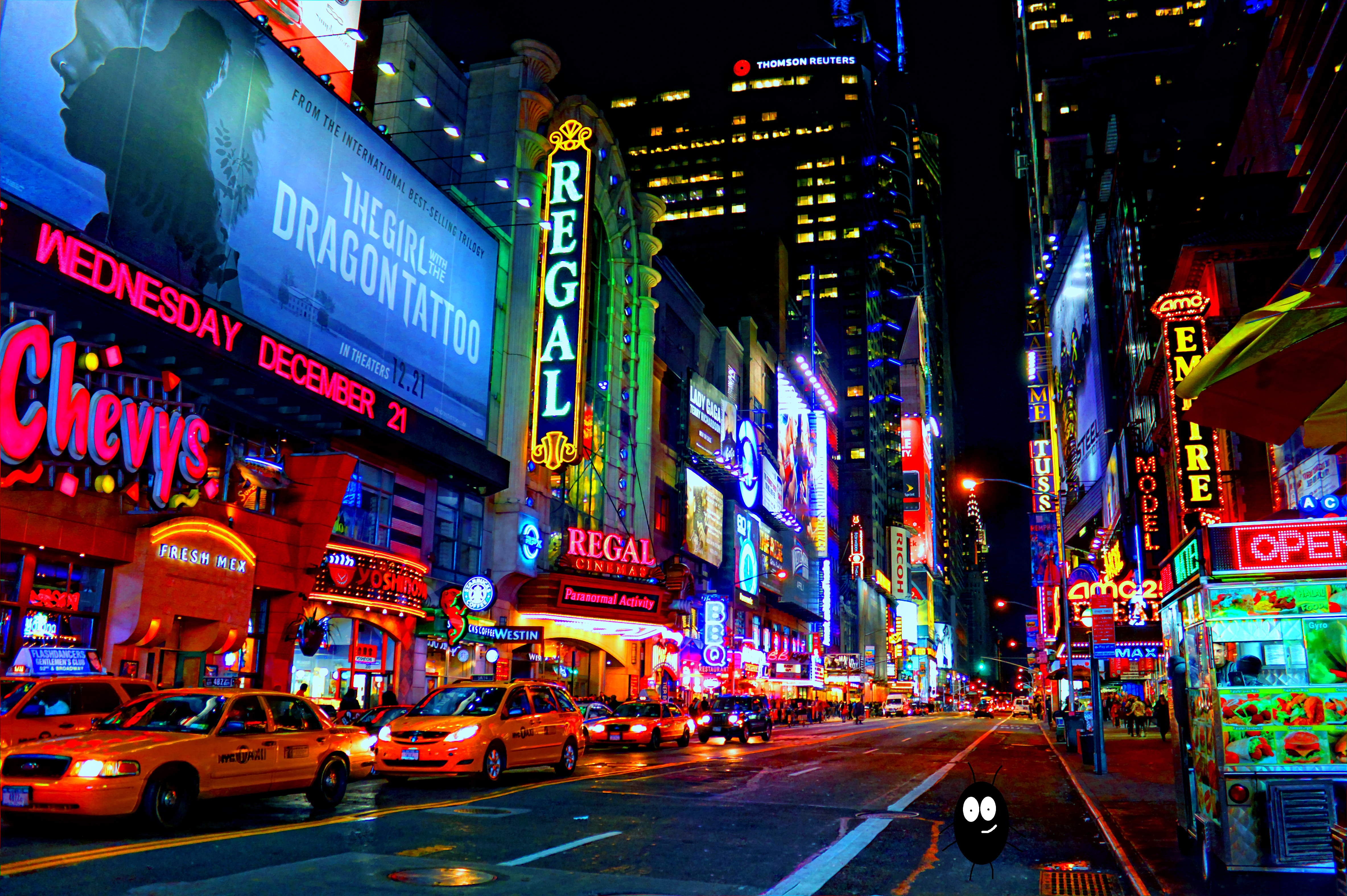 Buggy and glizy 42nd street by thebuggynater on deviantart for Places to see in nyc at night