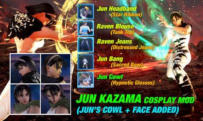 062 JUN KAZAMA Mod (Cowl + face added) by 9876789