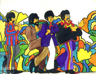 Old Art: Yellow Sub Beatles by Smitkins