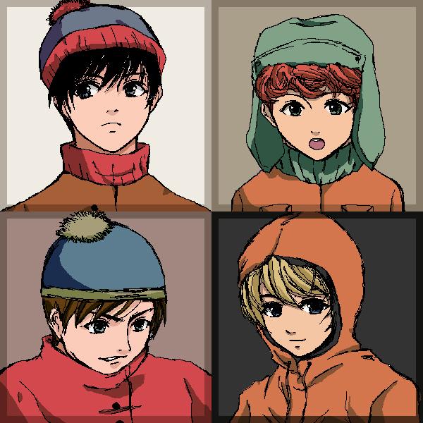 South Park Anime Kenny X Kyle Southpark stan,kyle,eric,kenny