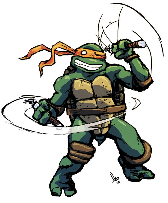 Michelangelo ninja turtle mad face