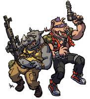 TMNT Rocksteady and Bebop by hugohugo