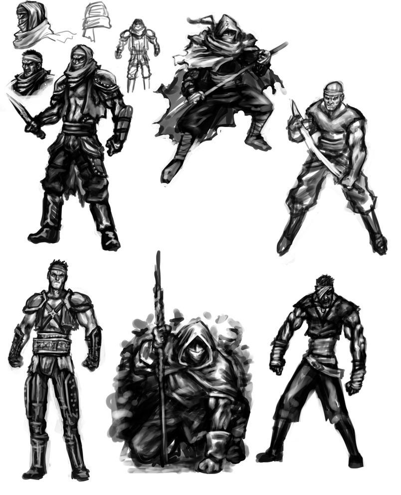 DH2 - bandits concepts by hugohugo