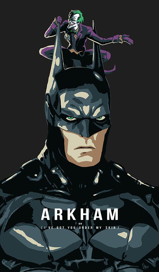 Arkham man poster by hugohugo