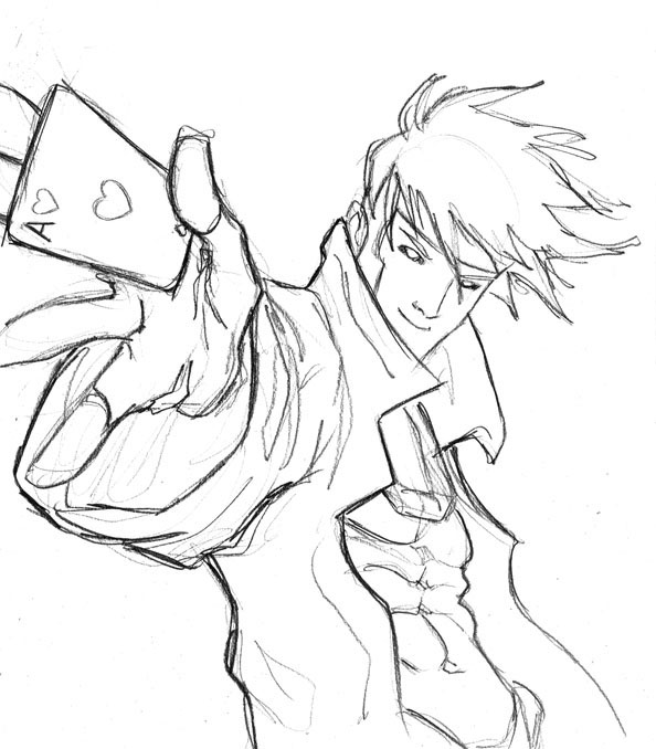 Gambit Sketch By Hugohugo On Deviantart