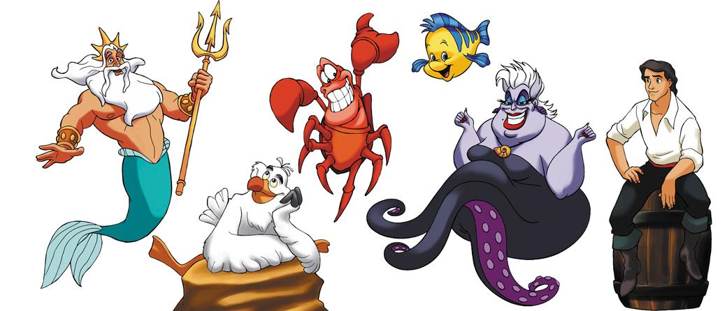 little mermaid characters by hugohugo on DeviantArt