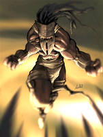 african tribal warrior dude by Dreviator