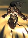 african tribal warrior dude