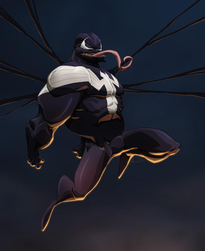 Venom nom nom by Dreviator