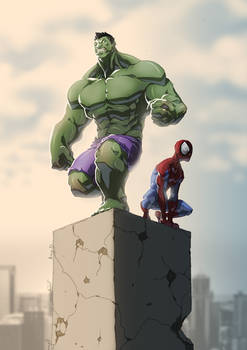Hulk and Spidey colab with Anny-D