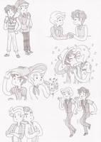 Doodles Klaine Moments 6 by HOSHIDESS
