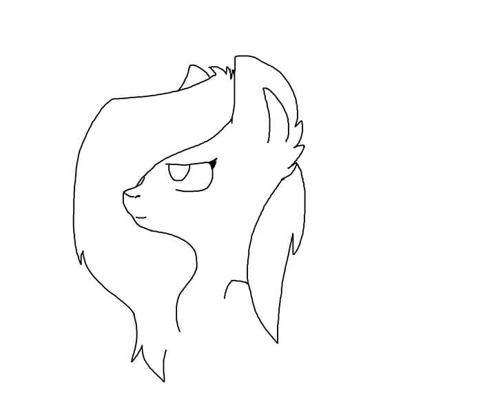 Feather Hooves Headshot by zombiegoddess666