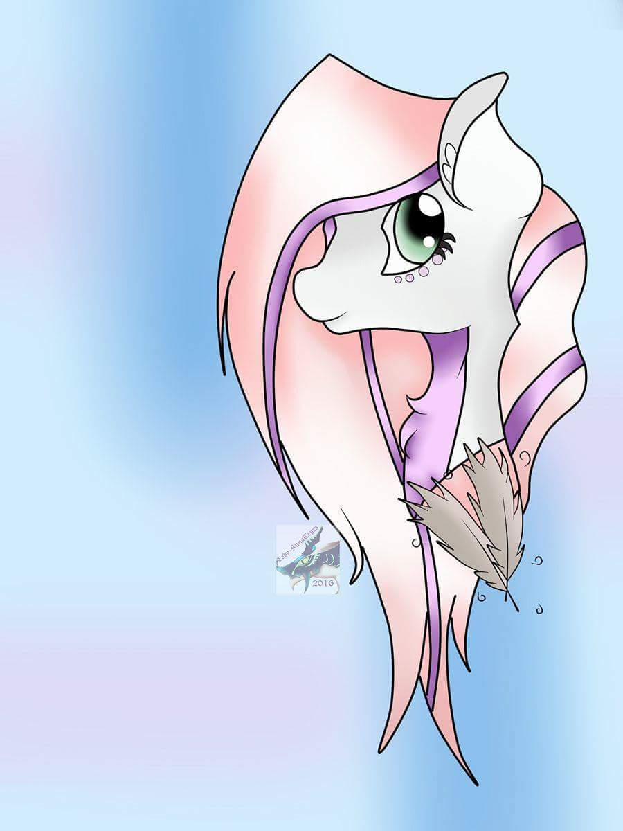 Feather Hooves colored Headshot by zombiegoddess666