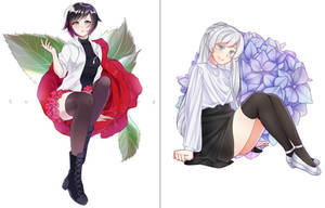 RWBY (collab with Sunnypoppy) by MisaKarin